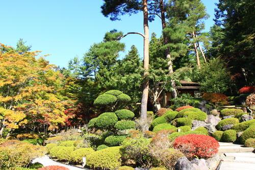 庭園の紅葉情報No.10 富士山温泉ホテル鐘山苑