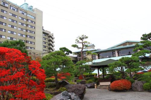 庭園の紅葉情報No.11 富士山温泉ホテル鐘山苑