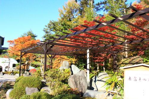 庭園の紅葉情報No.18 富士山温泉ホテル鐘山苑