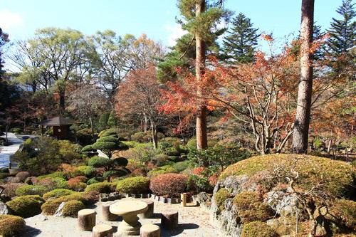 庭園の紅葉情報No.29 富士山温泉ホテル鐘山苑