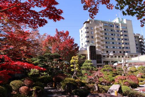 2018年庭園の紅葉情報No.14 富士山温泉ホテル鐘山苑
